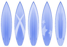 Surfboard Designs (blue) Stock Images