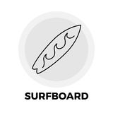 Surfboard Line Icon Royalty Free Stock Photography
