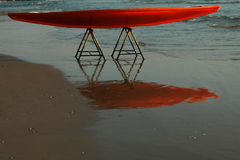 Surfboard reflection. A surfboard reflection Royalty Free Stock Photos