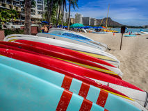 Surfboard rentals, Waikiki Royalty Free Stock Photography