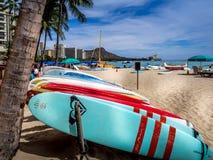 Surfboard rentals, Waikiki Stock Image