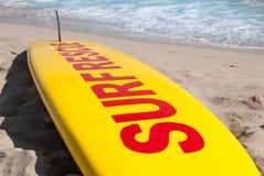 Surfboard for sea rescue stock photo
