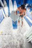 Surfboard Shaper Design Spider Stock Photos