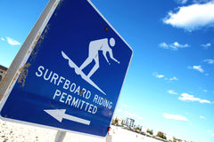 Surfboard Sign Royalty Free Stock Images