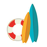 Surfboard sport summer icon Royalty Free Stock Image