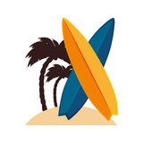 Surfboard sport summer icon Royalty Free Stock Images