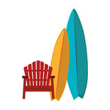 Surfboard sport summer icon Royalty Free Stock Photo