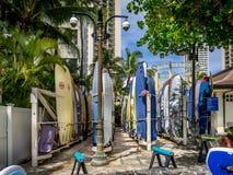 Surfboard wynajem, Waikiki Obrazy Stock