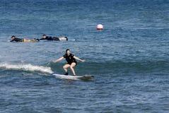 SURFBOARDING KA ANAPALI SHORE Stock Photography