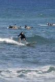 SURFBOARDING KA ANAPALI SHORE Royalty Free Stock Images