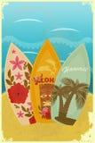 surfboards пляжа бесплатная иллюстрация