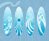 Surfboards. Surfboards in blue. Vector illustration Stock Image
