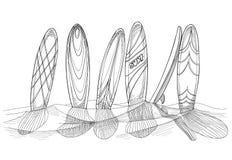 surfboards illustration de vecteur