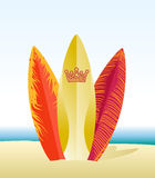 Surfboards on beach Royalty Free Stock Image
