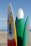 Surfboards on the beach Stock Photos