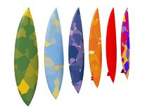 Surfboards isolated on white background Royalty Free Stock Photo