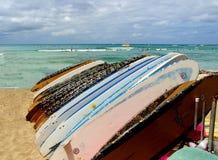 Surfboards na plaży zdjęcie royalty free
