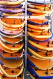 Surfboards on a rack Stock Images