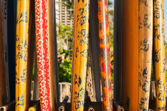 Surfboards in rack. Stock Images