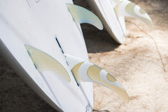 Surfboards for rent at the beach Royalty Free Stock Photo