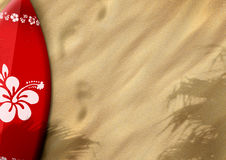 Surfboards on sand Royalty Free Stock Images