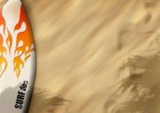 Surfboards on sand Stock Photos