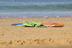 Surfboards on the Sand Royalty Free Stock Photos