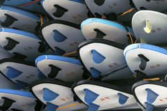 Surfboards in trailer Stock Photos