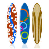 Surfboards on a white background Royalty Free Stock Photography
