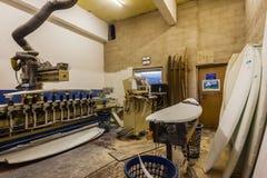 Surfbrett, das Maschinen-freie Räume formt Lizenzfreie Stockbilder