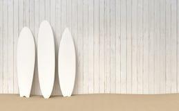 Surfbrettmodell-Strandillustration stock abbildung