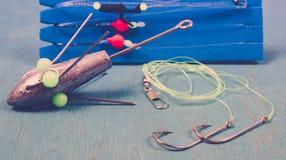 Surfcasting - εξαρτήματα θαλάσσιου ψαρέματος Μέθοδοι θαλάσσιου ψαρέματος Στοκ εικόνα με δικαίωμα ελεύθερης χρήσης
