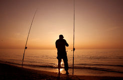 Surfcasting Royalty Free Stock Photos