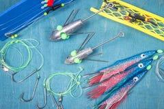 Surfcasting - acessórios da pesca de mar Métodos da pesca de mar Imagens de Stock