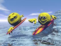 Surfen Stockfotos