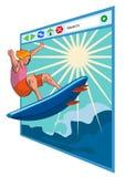 Surfen der Nettofenster Lizenzfreie Stockbilder