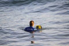 Surfen des Keils-GoPro stockfotografie