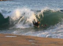 Surfen des Keils-GoPro lizenzfreies stockfoto