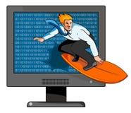Surfen des Netzes lizenzfreie abbildung