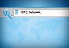 Surfen des WWW Stockfoto