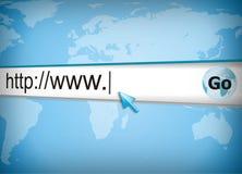 Surfen des WWW Stockbild