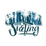 Surfen in Kalifornien Stockfotografie
