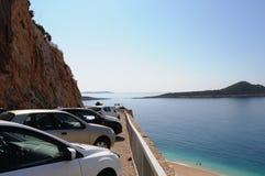 Surfen Sie Mitte Alacati, Truthähne die meisten schönen Urlaubsziele Stockbilder