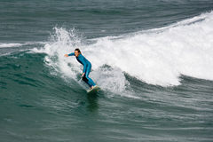 Surfend - Newquay - Cornwall - Engeland Royalty-vrije Stock Afbeelding