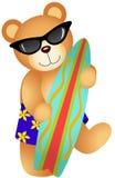 Surfender Teddy Bear lizenzfreie abbildung
