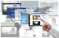 Surfendes Internet Stockbilder