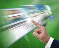 Surfendes Internet Stockfoto