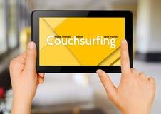 Surfendes Konzept der Couch Stockbilder
