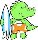 Surfendes Krokodil stock abbildung