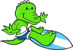 Surfendes Krokodil vektor abbildung